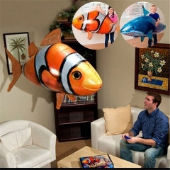 Remote Control Flying Fish/Shark Inflatable Helium Blimp Animal Balloon Toy, Perfect for Kid's Gift Flying Shark one size