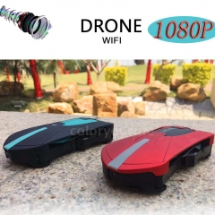 0.3MP Camera/JY018 2.0MP Wifi FPV Foldable Selfie Pocket Drone G-Sensor RC Quadcopter Red 0.3MP Camera