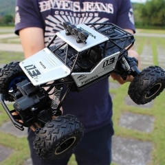 1:16 4WD RC Cars Speed 2.4G Radio Control Toys Alloy Suvs Buggy High Speed Trucks Children Gift Black one size