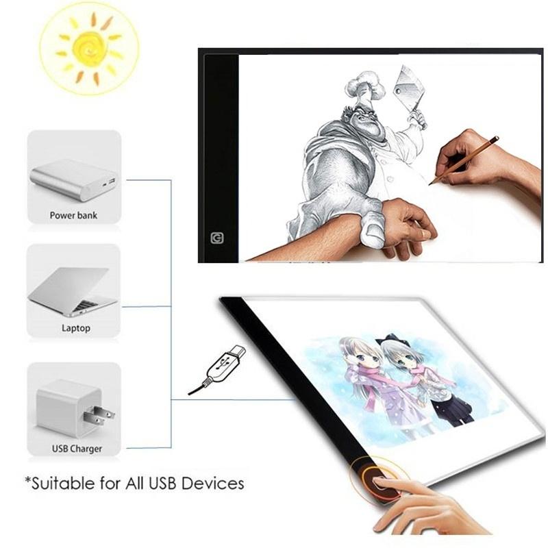 Light Boxes LED Art Display Drawing Board Stencil Light Box