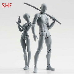 6 Style 15cm Body Chan Body Kun Pale Gray Color  Figma Bandai SHF Ferrite PVC Action Figure Figma Black Male