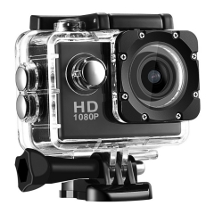 Full HD 1080P Helmet Sports DVR DV DV Action Waterproof 30M Camera with 500W pixel wide-angle Black one size