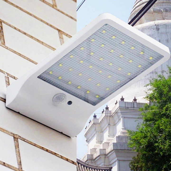 Solar Light 36led 450LM PIR Motion Sensor Powered Street Lamps Outdoor Led IP65 Black 180*110*30mm 6W