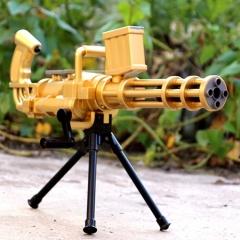 Soft Crystal Water Gun ,Kids Nerf Gun Toy ,Gun + 500pcs Water Ball Bullet Black one size