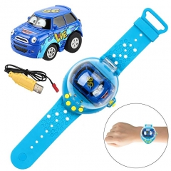 Wrist Watch Remote Control Toy Car Power-Sensing Remote Control Car Watch car Gravity Sensor RC Car Blue one size