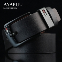 Fashionable buckle men belt fashionable man wide belt black 115cm