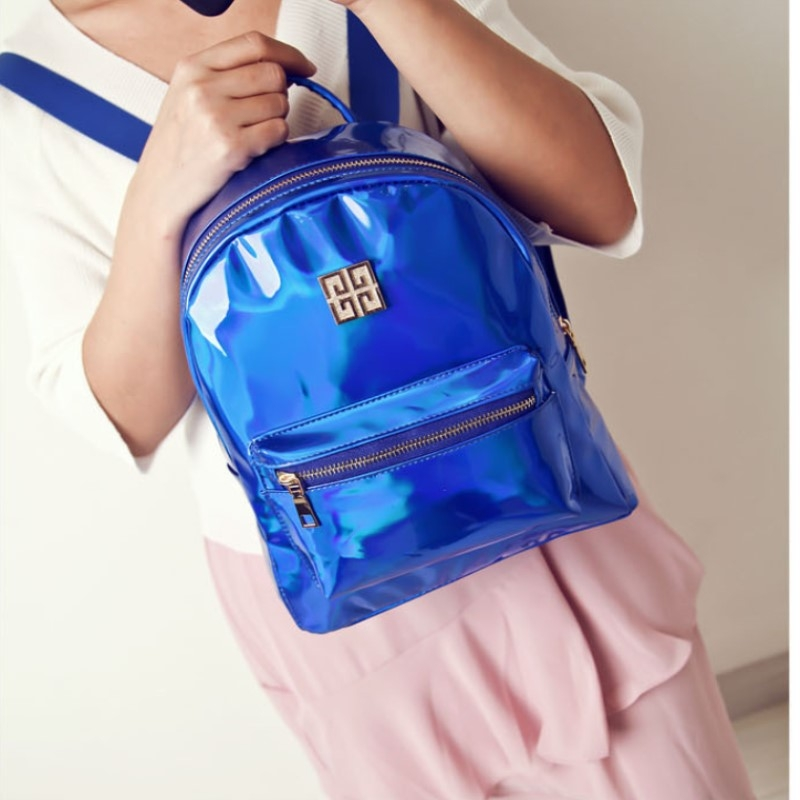 8f9413a4a353 New laser polyester large capacity women's shoulder bag fashionable  Backpack Travel Bag blue one size: Product No: 2064529. Item specifics:  Brand: