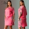 MSIN 2018 New hot sell Fashion Women Cotton Lace Print Casual party dress  O-Neck  Dresses l pink