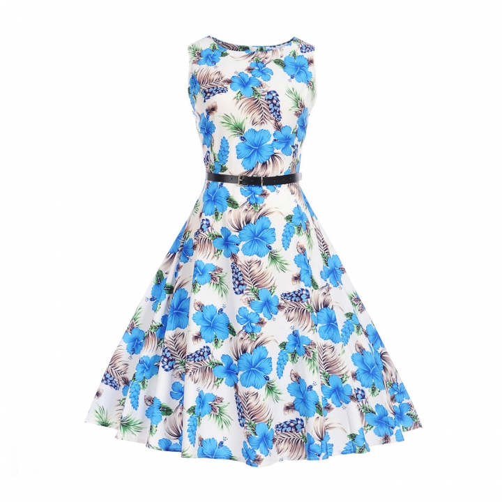 MSIN Best selling explosions European and American women's dersses style retro rose print dress tutu s 3