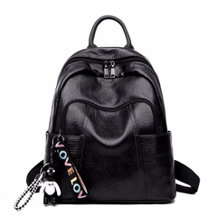 MSIN Women New Fashion Backpack Student Bag Casual Wild Travel Bag Large Capacity Backpack black 28*14.5*32cm