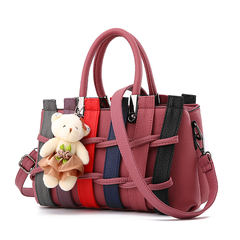 MSIN Women's Bag  Women bags Stereotype Sweet Fashion Handbags Messenger Shoulder Bag red wine 27*12*17cm