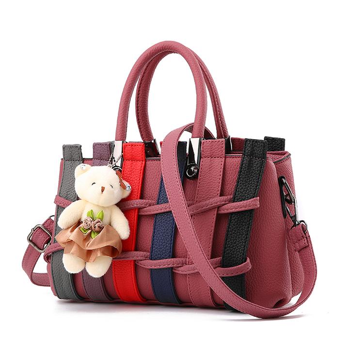 ad014e86beb MSIN Women's Bag New bag Women Stereotype Sweet Fashion Handbags Messenger  Shoulder Bag red wine 27*12*17cm