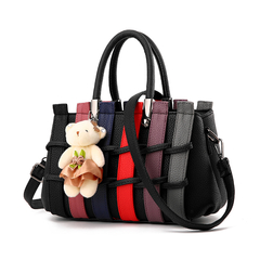MSIN Women's Bag  Women bags Stereotype Sweet Fashion Handbags Messenger Shoulder Bag black 27*12*17cm