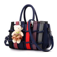MSIN Women's Bag New bag Women Stereotype Sweet Fashion Handbags Messenger Shoulder Bag dark blue 27*12*17cm