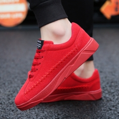 2018 New Autumn Shoes Sports Casual Men'S Shoes  Fashion Sneakers Women Shoe Lace-Up Shoes Men red 39
