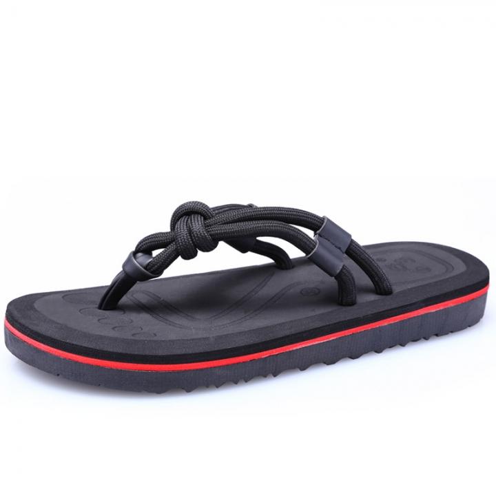 e375d7c5ec341c Summer Outdoor Beach Shoes Men S Shoes Personality Home Slippers Flip Flops  Shoes For Men black 44