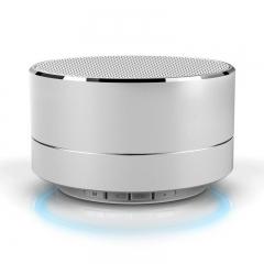 Wireless Bluetooth Speaker Metal Mini Portable Subwoof Sound For SmartPhone gold input sensitivity: 300mv A10