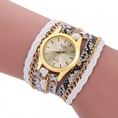 Winding Dress women Bracelet Watch  Vintage style Ladies Quartz Wrist Watch white