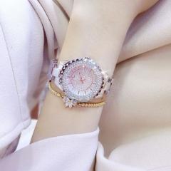 Women Watches Luxury Brand New Geneva Ladies Quartz Rhinestone wrist watches silver