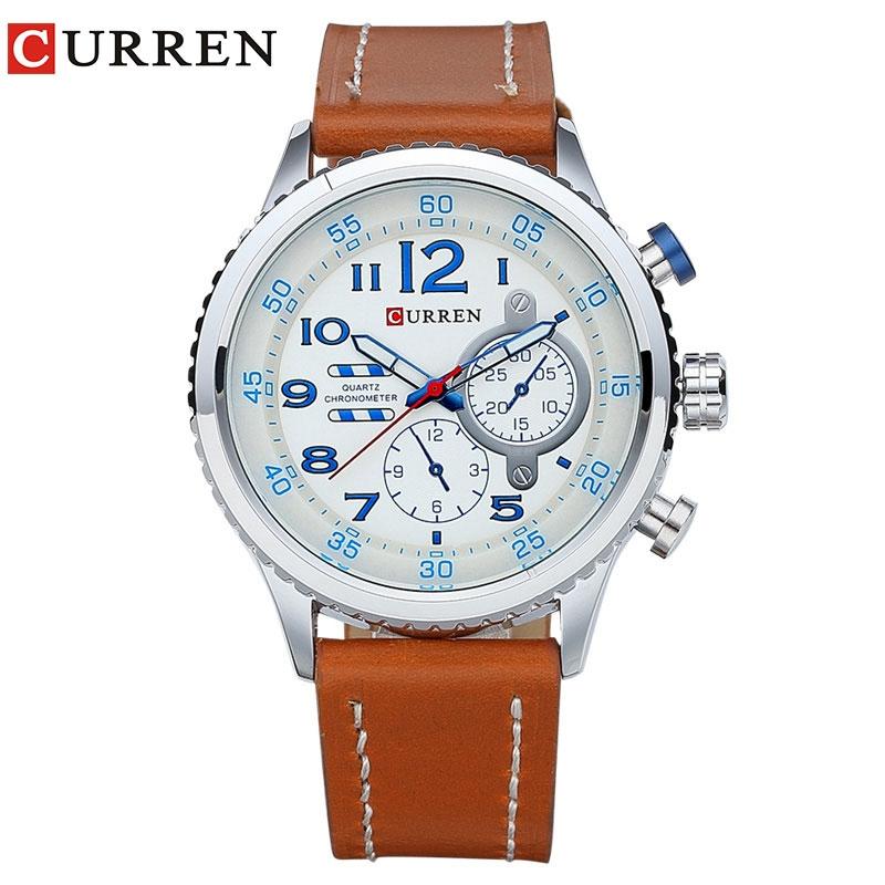 663823b2c58e New Genuine Leather Strap Gold Business Watch Quartz Luxury Sport ...