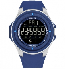 New Mens Automatic Army Watches Sport Watch Waterproof Men Digital Wristwatches LED Display Blue