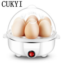 CUKYI Double layer Multi-function Electric Egg Cooker Boiler Stainless steel automatic power-off single layer