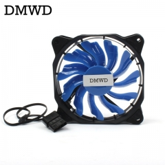 DMWD  Computer Eclipse 120mm LED Fan Red Blue Green White Light Guide Ring  Ultra Mute green