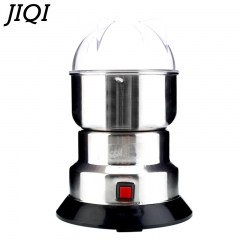 JIQI coffee bean corn Grinder machine electric coffee mill Beans Nuts stainless steel Blades Crush 220V