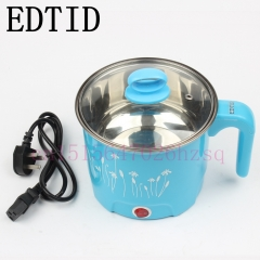 EDTID Student dormitory mini multifunction cooker stew Electric Hot pot boiled egg noodles blue