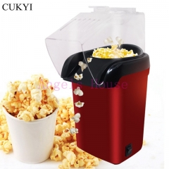 Mini Household Healthy Hot Air Oil-free automatic Popcorn Maker Red Corn Popper For Home Kitchen red