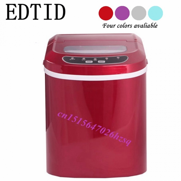 EDTID Portable Automatic ice Maker, Household bullet round ice  for family, small bar,coffee shop red 40cm x 32cm x 40cm