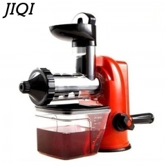 JIQI Household Environmentally Healthy Manual Slow Juicer Extractor Eletrodomestico De Cozinha red