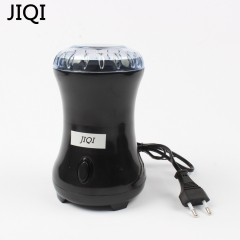JIQI Electric Coffee Spice Grinder Stainless Steel Blades Beans Nuts Cafe Mills Food Grade Plastic black 20cm x 10cm x 10cm