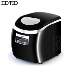 EDTID Automatic Fast Ice Maker Commercial Use Milk tea shop Household Electric Three kinds of ice black 40cm x 32cm x 36cm