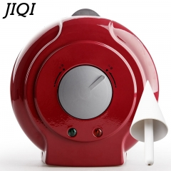 JIQI Electric Ice Cream Machine donut wizard waffle maker Frying Pan Household Kitchen Tool red