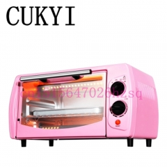 CUKYI Household baking oven toaster oven mini multifunction double small oven 800W 11L pink 36cm x 34cm x 22cm 800W