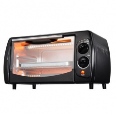 CUKYI Household baking oven toaster oven mini multifunction double small oven 800W 11L black 36cm x 34cm x 22cm 800W