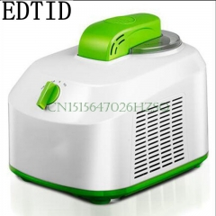 EDTID Household Electric Ice Cream Maker Mini Full-Automatic DIY Ice Cream  stir and cool function green and white