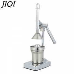 JIQI Fruits Manual Squeezer Orange Lemon juicer extractor commercial Stainless Steel machine silver