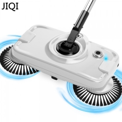 JIQI Chargable Hand-push sweeping mopping machine wireless household appliances cleaner dustpan set white 40cm x 13cm x 30cm