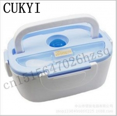 CUKYI  Electrical Lunchbox heating thermal food warmer Portable Storage Container reheat food Bowl blue 110V