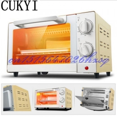 CUKYI Household Electric Multifunctional Mini oven baking and Temperature control Stainless steel Golden 39cm x 34cm x 25cm 1000w