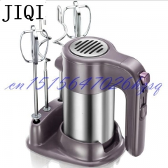 JIQIHousehold Electric Hand Food Mixer Operated Mini Cream Mayonnaise Frother  Food Blender purple