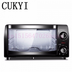 CUKYI 220v / 10L Mini electric oven home Multifunctional baking oven trifle and bread black 41cm x 31cm x 23cm 900W