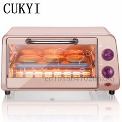 CUKYI 9L electric oven home mini oven timing small oven baking machine fish biscuit cake pink 44cm x 36cm x 29cm 800w