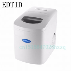 EDTID New high quality Milk tea shop bar home 10KG desktop Mini White Ice machine ice machine white 29cm x 37cm x 37cm