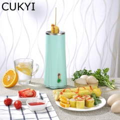 CUKYI Electric Mini Egg Roll Maker Base Removable Non-stick Omelette Breakfast Boiler fast cooking blue