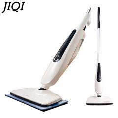 JIQI Household steam mop electric floor cleaning machine High temperature sterilization Handheld white 30cm x 20cm x 80cm