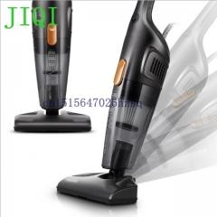 JIQI Mini Household Rod Vacuum Cleaner multifunctional 3 brushes Portable Dust Collector black 21cm x 13cm x 102cm