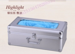 JIQI Shoe cover machine Shoe Cover Dispenser Rosewood  various choices Anti beriberi contagion silver 50cm x 30cm x 21cm